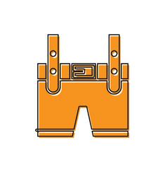 Orange lederhosen icon isolated on white vector