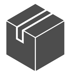 Product package box icon vector