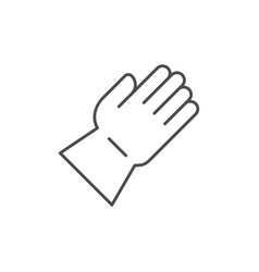 protective glove line outline icon vector image