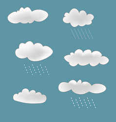 Rainy clouds set vector