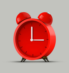 Realistic red alarm clock clean vector