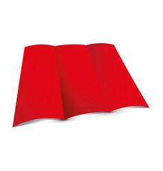 Red tri-fold leaflet vector