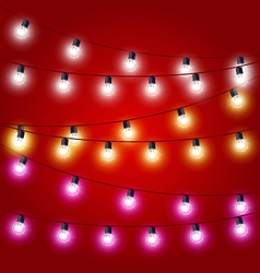 Sagging strung of Christmas Lights - carnival vector