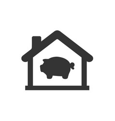 Savings bank icon vector
