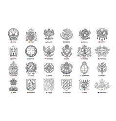 set coats arms vector image