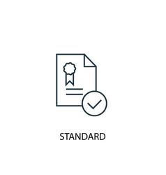 Standard concept line icon simple element vector