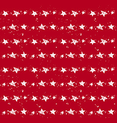Stars christmas red pattern vector