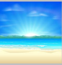 Summer sand beach background vector