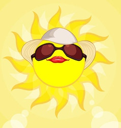 Sun Summer Holiday Woman vector image
