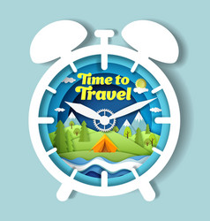 time to travel poster banner design vector image