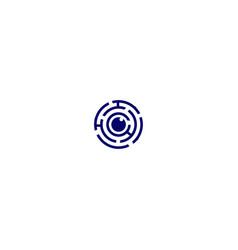 Vision maze logo design vector