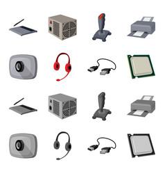 Webcam headphones usb cable processor personal vector