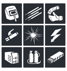 Welding icon set vector image