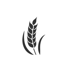 Wheat black icon vector