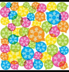 creative merry christmas ball background vector image