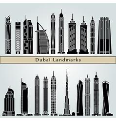 Dubai v2 landmarks and monuments vector