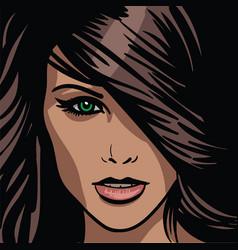 girl portrait vector image