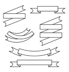 Line ribbon set vector image vector image