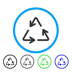 recycle arrows rounded icon vector image vector image