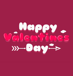 valentines day banner logo background vector image vector image