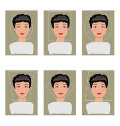 Women face types vector image
