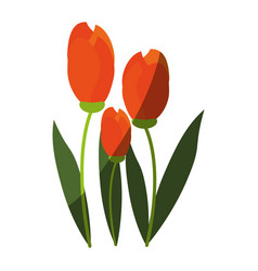 delicate flower icon image vector image vector image