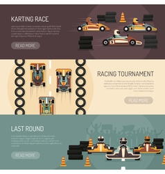 Karting Motor Race Banners vector image vector image