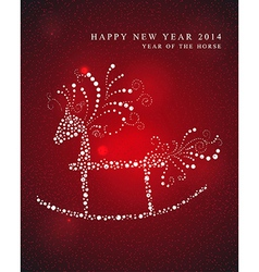 Year of the Horse greeting card vector image vector image