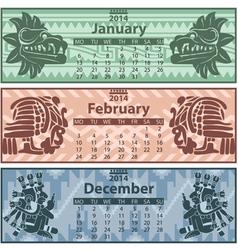 Calendar 2014 Winter vector image vector image