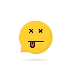 dead emoji speech bubble logo vector image