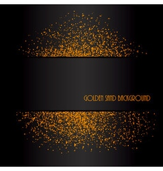 Golden sand abstract background vector image vector image