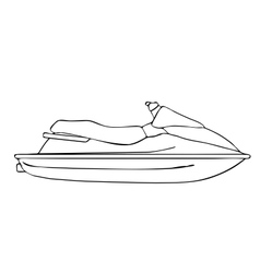 Isolated Jet-Ski vector image