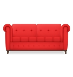 Red Leather luxury vintage living room sofa vector image vector image