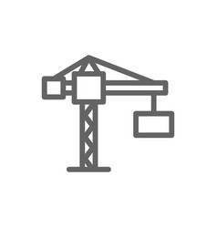 simple building crane line icon symbol and sign vector image vector image