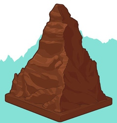 Swiss Chocolate in Matterhorn shape vector image vector image