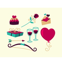 Valentines Day things vector image vector image