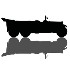Vintage opened military car vector