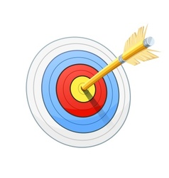 Arrow and target for bow vector image