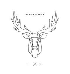deer frame on white vector image vector image