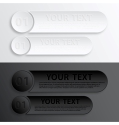 Paper Web Button Interface vector image