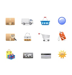 shopping consumerism icon set vector image vector image