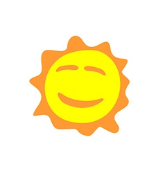 Sunshine fun sign Smiling sun logo vector image vector image