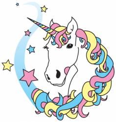 unicorn magic vector image