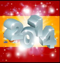 2014 spanish flag vector image