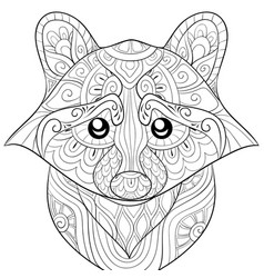 Adult coloring bookpage a cute ratton image vector