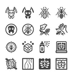 ant icon set vector image