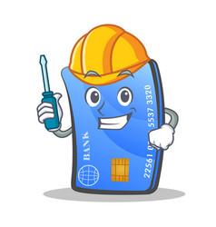 Automotive credit card character cartoon vector