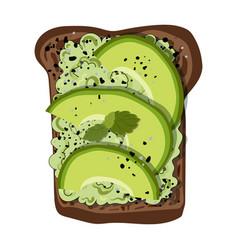 Avocado toast vector