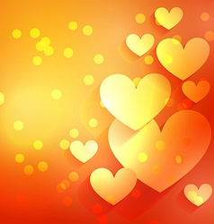 Beautiful heart background with bokeh effect vector