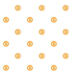 bitcoin seamless pattern flat vector image